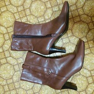 Nine West Leather Boots Pteldora sz 7 M